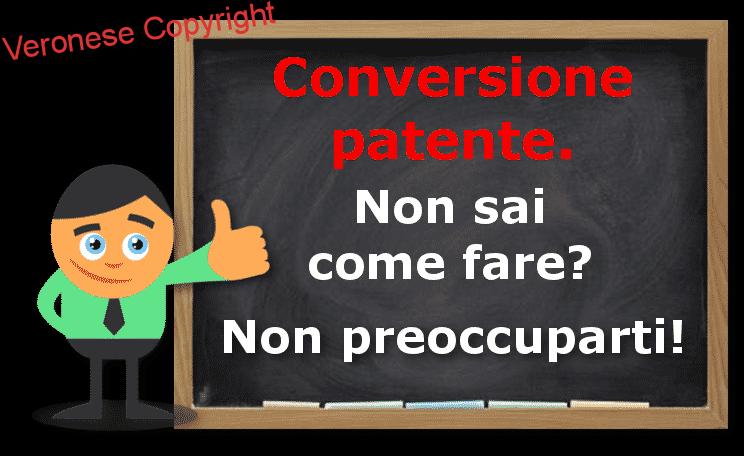 Conversione patente
